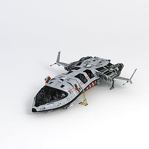 3d超真实版飞船模型