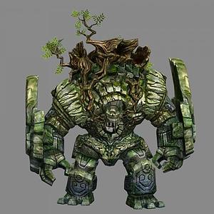 3d石头怪物模型