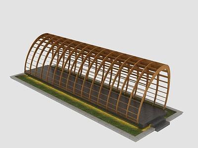 3d創意廊架模型