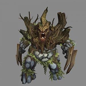 3d樹怪模型