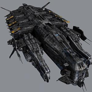 3d戰斗飛船模型
