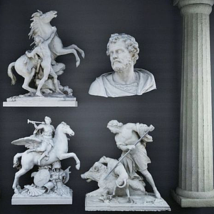 歐式雕塑模型