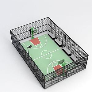 3d室內<font class='myIsRed'>籃球場</font>模型
