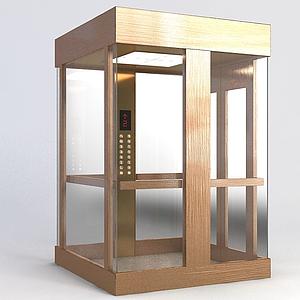 拉絲不銹鋼觀光電梯模型