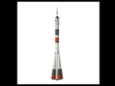 3d俄羅斯聯盟號火箭模型