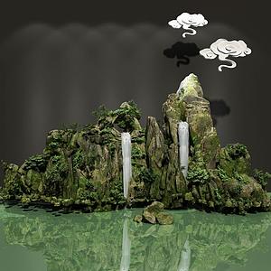 三維假山模型