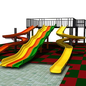 3d<font class='myIsRed'>滑梯</font>游樂設施模型