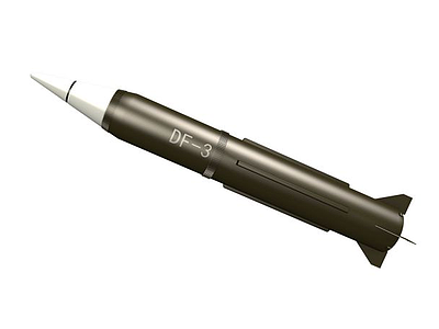 東風三號導彈3d模型