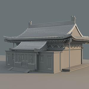 3d古建四合院模型