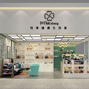 3d店鋪美妝店彩妝店模型