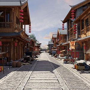 古建筑步行街特色小吃街