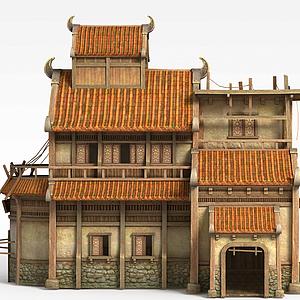 劍靈場景房屋模型