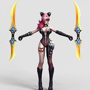 王者荣耀2013游戏女角色模型