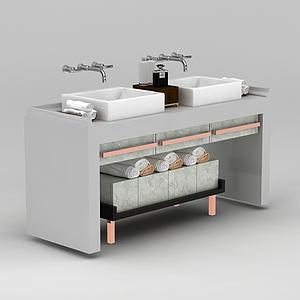 浴室洗臉臺盆3d模型