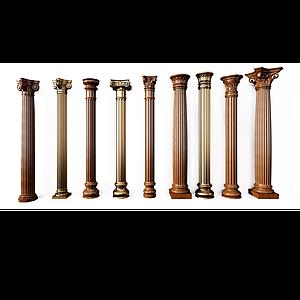 歐式羅馬柱組合模型