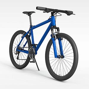 3d藍色<font class='myIsRed'>自行車</font>模型