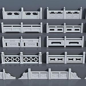 漢白玉護欄欄桿模型