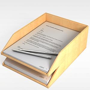 木質文件盒模型