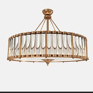 金屬吸頂燈模型
