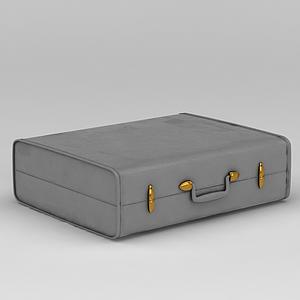 复古手提皮箱子模型