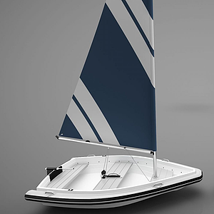現代風格小船模型