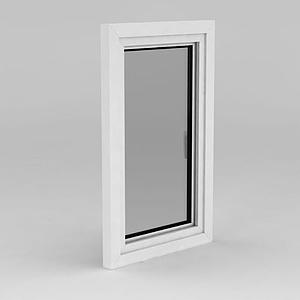 單扇平開窗戶模型