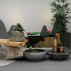 3d园艺小品模型