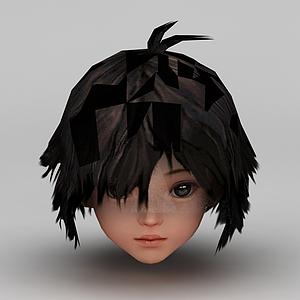 劍網三游戲發型發飾小女孩發型模型