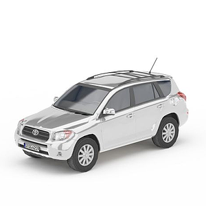 3d灰色豐田車模型