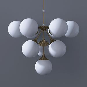 現代葡萄式吊燈模型