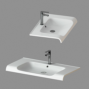 現代衛浴用品洗手臺模型