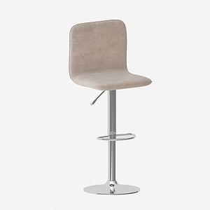 3d北欧式高脚吧椅模型