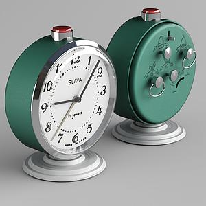 現代上鏈機械鬧鐘模型