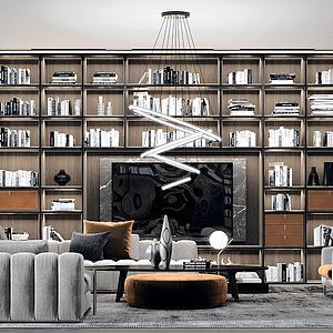3d精品现代客厅模型