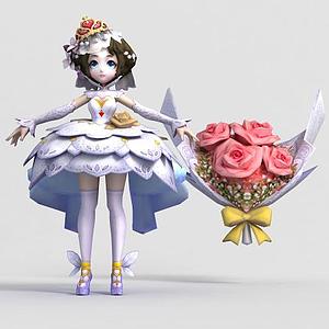 王者榮耀人物女游戲角色模型