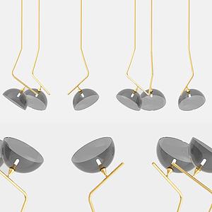 現代啞鈴吊燈模型