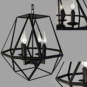 現代燈籠式蠟燭吊燈模型