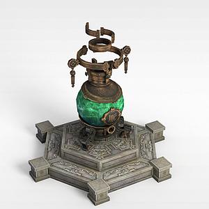 游戲場景煉丹爐模型