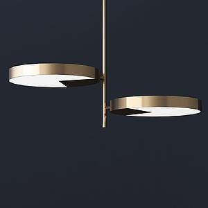 現代兩圓片吊燈模型