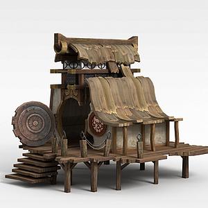 劍靈游戲場景模型