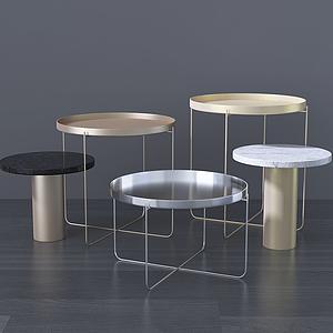 現代小圓桌咖啡桌組合模型