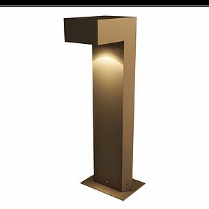 現代簡約路燈式落地燈模型