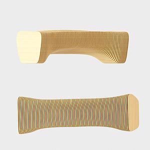 現代實木橢圓桌模型