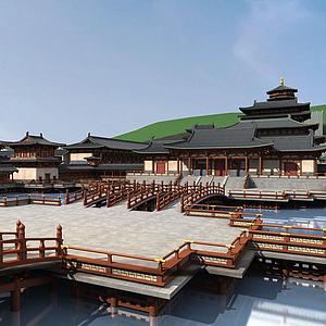 3d中式<font class='myIsRed'>古建筑</font>宫殿模型