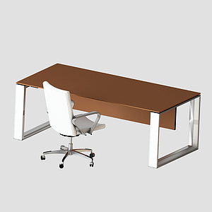 3d現代簡約<font class='myIsRed'>辦公桌</font>椅模型