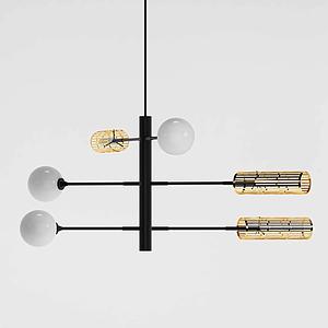 現代組合型吊燈模型