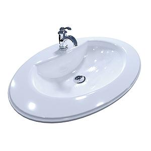 現代洗手盆水龍頭模型