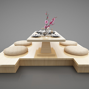 3d日式榻榻米模型