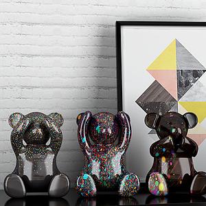 3d小熊模型