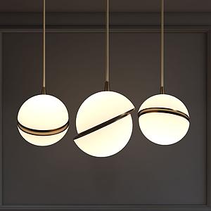 現代球形吊燈吊球燈模型